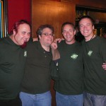 The Braintrust (from L to R) - Tim, Eugene, C. Jay (Beer Guru), and Brian