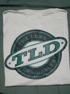The Official The Less Desirables Tee (back)